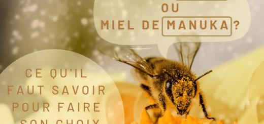 Miel de thym ou miel de manuka ?