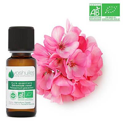 huile de géranium rosat gencives sensibles